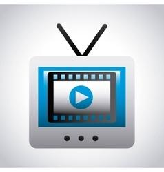 media player design vector image vector image