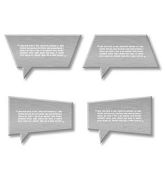 metal plate speech bubble icon for text quote vector image vector image