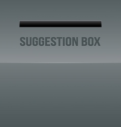 Metal suggestion box - optical vector