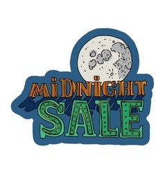 Midnight sale and discount cartoon banner vector