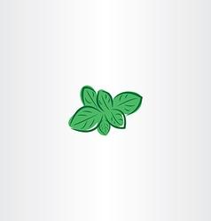 Mint plant icon symbol design vector