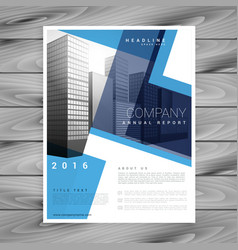 Modern blue brochure flyer design template for vector