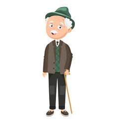 of an old man vector image