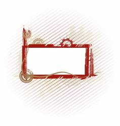 olive industrial frame vector image vector image