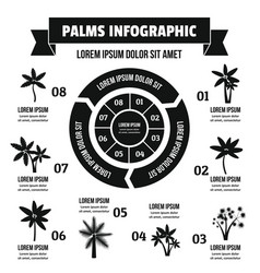 Palms infographic concept simple style vector