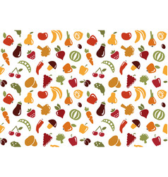 pattern with fruits and vegetables vector image vector image