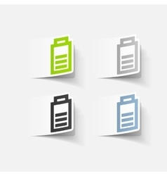 realistic design element charge the battery vector image vector image