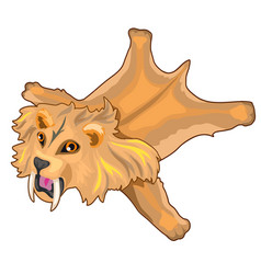 Skin of saber-toothed tiger prehistoric animal vector
