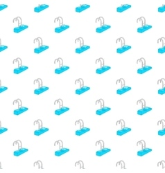 Stairs of the swimming pool pattern cartoon style vector