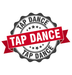 Tap dance stamp sign seal vector