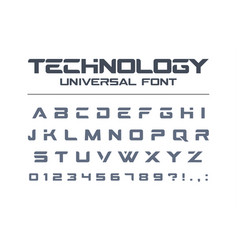 technology universal font geometric sport vector image