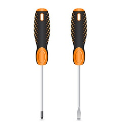 tool screwdriver 03 vector image vector image