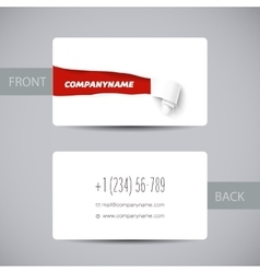 Torn paper template for business card sale promo vector