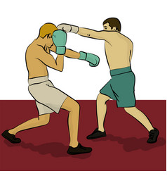 Two men are boxing olympic sport eps 10 vector