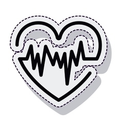 Heart pulse isolated icon vector