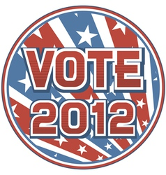 United states of america elections pins 2012 vector