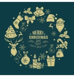 Christmas design frame decoration vector