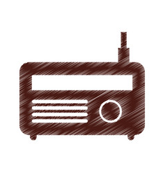 old radio isolated icon vector image