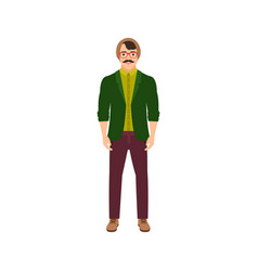 Musician man isolated icon vector