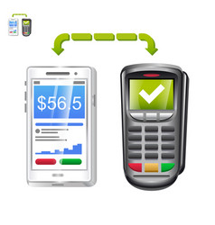 Mobile payment app with terminal vector