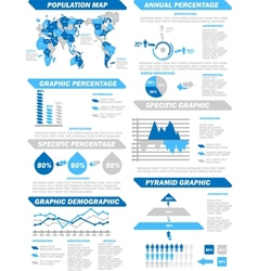 INFOGRAPHIC DEMOGRAPHIC ELEMENTS NEW BLUE vector image