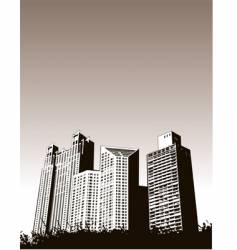 buildingsgrass vector image