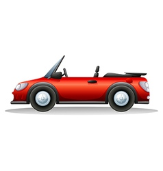 A red sports car vector