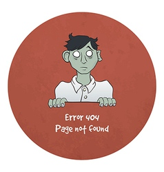 Sad Young Zombie - Error 404 vector image