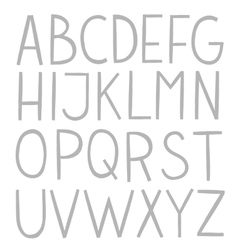 Hand draw full alphabet vector