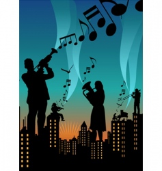 music city vector image