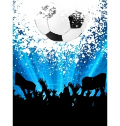 Soccer fans vector