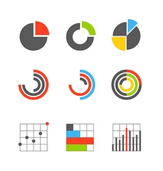 Different graphic business ratings and charts vector