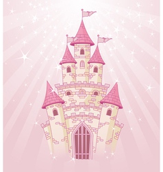Fairy tale princess castle vector