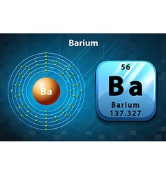 Symbol and electron diagram for barium vector