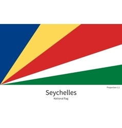 National flag of seychelles with correct vector
