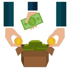 Money savings graphic vector