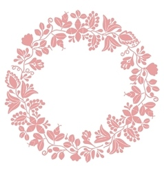 Pastel laurel wreath decorative frame on white vector