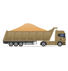 Truck semi trailer concept 11 vector