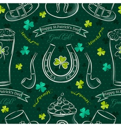 Green seamless background for patricks day vector