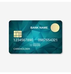 Bank card design template vector image