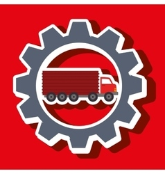Signal of truck isolated icon design vector