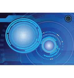 Abstract technology digital background design vector image