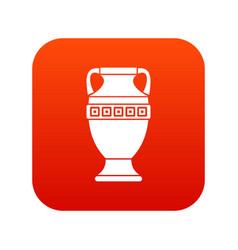 ancient jug icon digital red vector image vector image