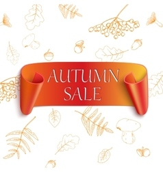Autumn sale sticker vector