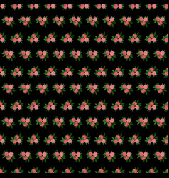 Bedding with a pattern of flowering vector