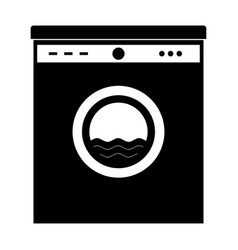 Black washing machine this is icon vector