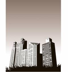 buildingsgrass vector image vector image