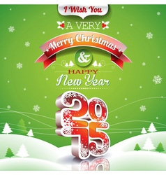 Christmas with typographic vector