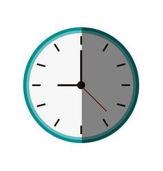 Clock flat shadow vector