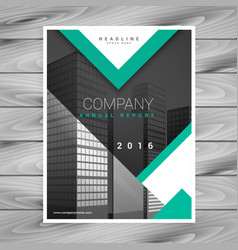 Company brochure flyer template with geometric vector